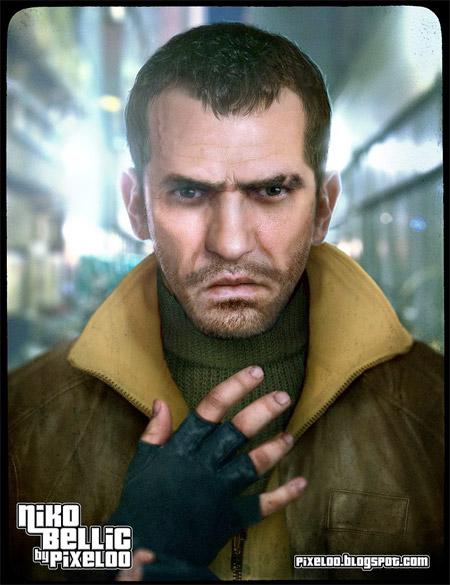 Niko Bellic of Grand Theft Auto IV